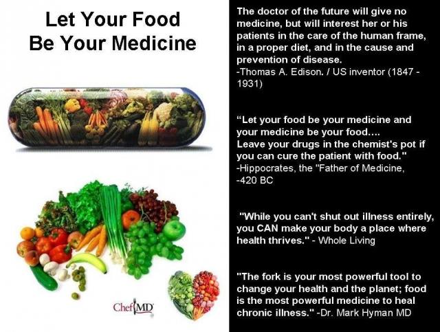 alimento é remedio